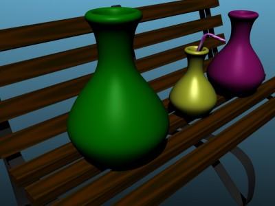 Vazos ant inovatyvaus suoliuko