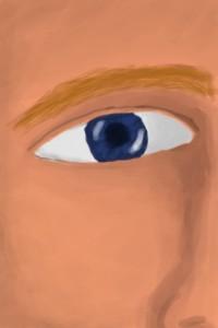Dalis veido (norėjau iš pradžių tik akį pabandyt nupiešt, bet tuščia atrodė)